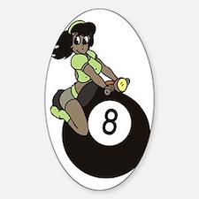 Black girl on 8 ball Decal