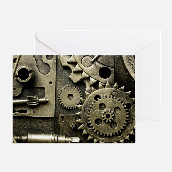 Mechanical Gears Greeting Card