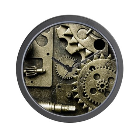 mechanical gears wall clock by listing store 112282429