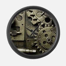 Mechanical Gears Large Wall Clock