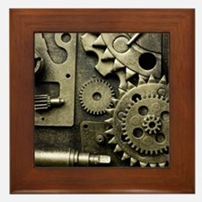 Mechanical Gears Framed Tile
