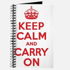 Keep Calm and Carry On Red Journal