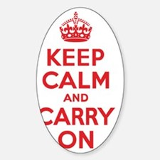 Keep Calm and Carry On Red Decal