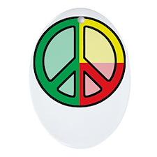 peaceBenin1Bk Oval Ornament