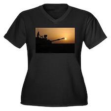 US Army Field Artillery Women's Plus Size V-Neck D