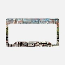 sailboat_painting_large License Plate Holder
