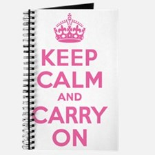 Keep Calm and Carry On Pink Journal