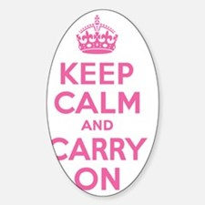 Keep Calm and Carry On Pink Decal