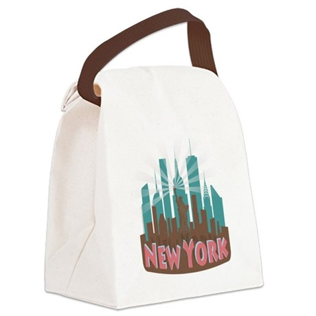 NYC Newwave7 chocolate Canvas Lunch Bag