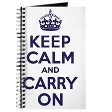 Keep Calm and Carry On Navy Journal