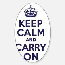 Keep Calm and Carry On Navy Decal