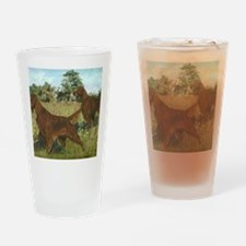 IrishSetterHunting Drinking Glass