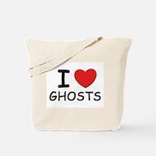 I love ghosts Tote Bag