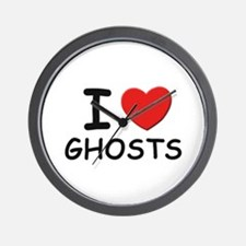 I love ghosts Wall Clock