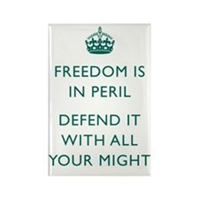 Freedom in Peril Green Rectangle Magnet