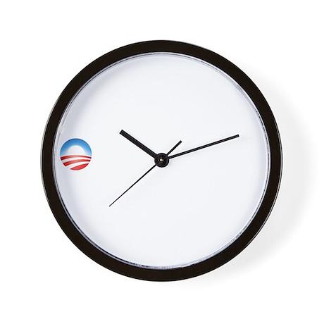 Obama - Black Not Stupid 001 Dark Wall Clock