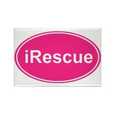 irescue oval pink Rectangle Magnet