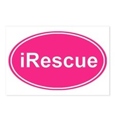 irescue oval pink Postcards (Package of 8)