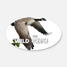 wildgeeseback3 Oval Car Magnet