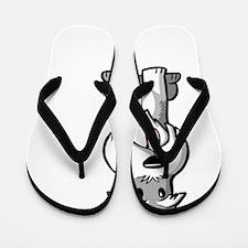Life-is-better-with-a-Schnauzer-dark Flip Flops