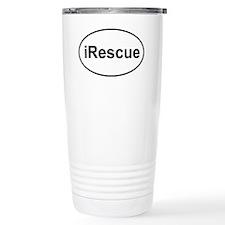 irescue oval white Travel Mug