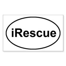 irescue oval white Decal