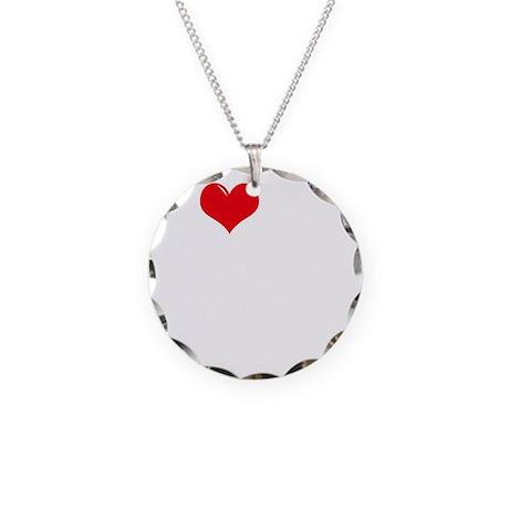 I-Love-My-Schnauzer-dark Necklace Circle Charm