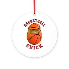 Basketball Chick 2 Ornament (Round)