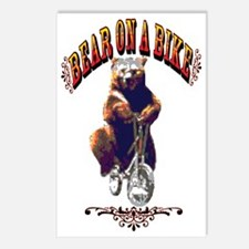 Bear_bike_big Postcards (Package of 8)