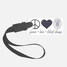 peace-love-swan Luggage Tag