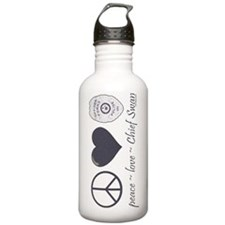 peace-love-swan-sw Water Bottle