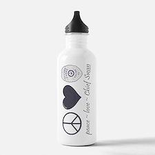 peace-love-swan-sw Water Bottle