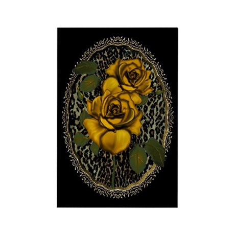 Wild Roses Rectangle Magnet (10 pack)