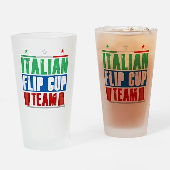 Italian Flip Cup Team Drinking Glass