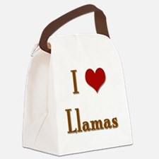 Ilovellamas Canvas Lunch Bag