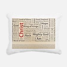 100 names of Jesus Ameri Rectangular Canvas Pillow