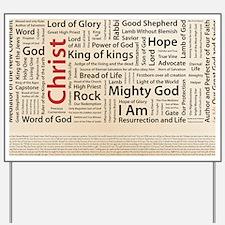 100 names of Jesus American Spelling 200 Yard Sign