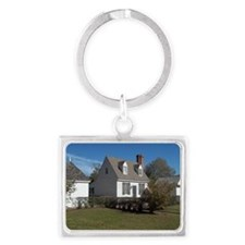 Colonial House and out building Landscape Keychain