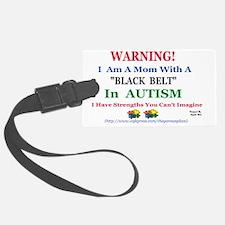 black belt cap mom Luggage Tag