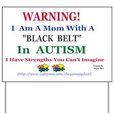 black belt cap mom Yard Sign
