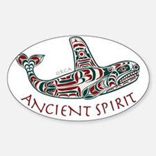 211t AncntSpirit Orca  Sticker (Oval)