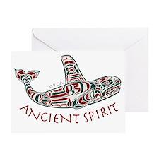 212bg AncntSpirit Orca  Greeting Card