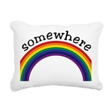 Somewhere over the rainb Rectangular Canvas Pillow