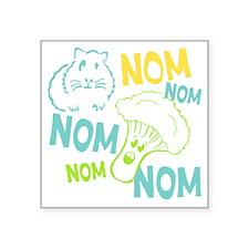 "NomNom Square Sticker 3"" x 3"""