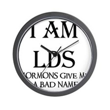 LDS MORMONS BAD NAMEBLK copy Wall Clock