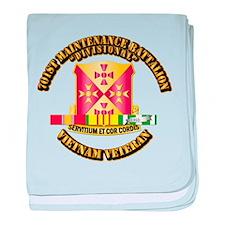 701st Maintenance Bn w SVC Ribbon baby blanket