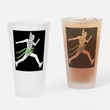 Running Poster Drinking Glass