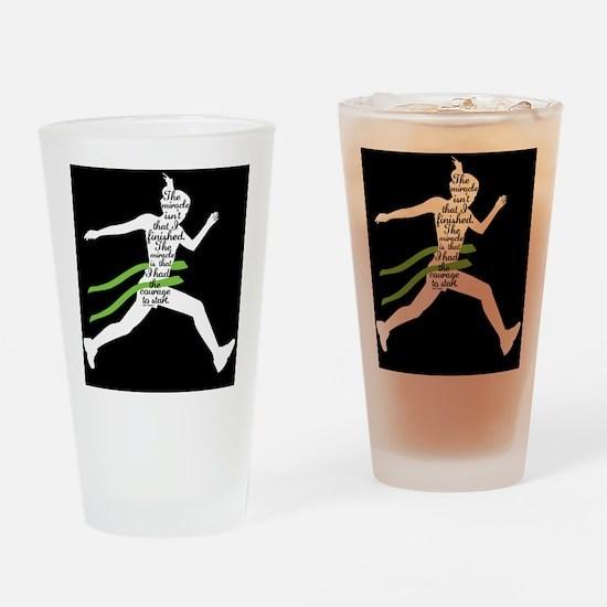 Running Poster Drinking Glass
