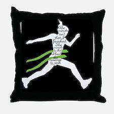 Running Poster Throw Pillow