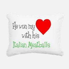 Won My Heart Italian Mea Rectangular Canvas Pillow